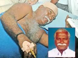 பாஜக மாநில செயற்குழு உறுப்பினர் எம்.ஆர். காந்தி மர்ம நபர்களால் வெட்டப்பட்டார்