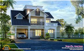 Awesome modern house exterior   Kerala home design and floor plansAwesome modern house