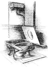 how did public bathrooms get to be separated by sex in the first a 19th century water closet