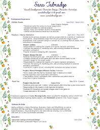 resume sara talmadge resume
