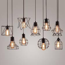 vintage industrial metal cage pendant light hanging lamp edison bulb lighting fixture new loft pendant lamps arteriors soho industrial style pendant light fixture