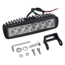12v <b>18w 6led</b> waterproof led headlights flood <b>work</b> light motorcycle ...