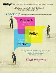 national institute for early childhood professional 2015 national institute for early childhood professional development final program by naeyc issuu