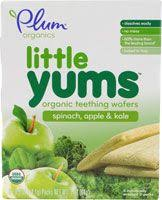 Plum Organics <b>Little Yums</b>™ <b>Organic Teething</b> Wafers Spinach ...