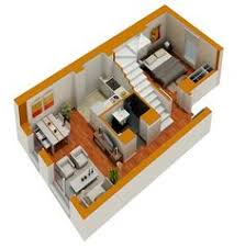 images about Small and prefab houses on Pinterest   Floor    Tiny House Floor Plans   Small residential unit d floor plan   D floor plans