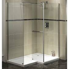 bathroom ideas corner shower design: modern square double corner shower design with glass stall and door