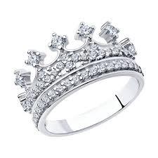 <b>Кольцо</b>-<b>корона с фианитами</b> SOKOLOV – купить в официальном ...