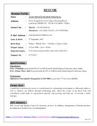 sample personal profile for resume  seangarrette cosample personal profile for resume