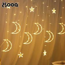 3.5m <b>Moon Star Led</b> Curta Garland String Light Copper Wire <b>Fairy</b> ...