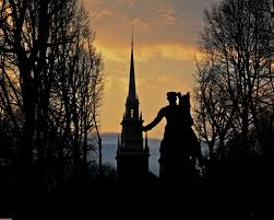 the importance of the obvious page  old north church the statue of paul revere in silhouette photo courtesy of matt