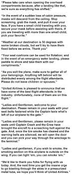 hilarious announcements made by real flight attendants