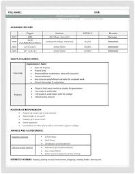 resume format hr fresher resumes format for freshers