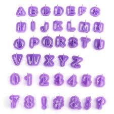 <b>40pcs</b>/Set Biscuit Cutter Number Letter Kit Fondant <b>Cake</b> Decorating ...