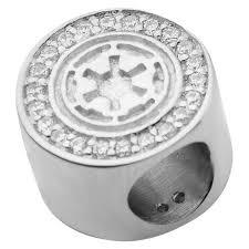 Men's 'Star Wars' Galactic Empire Symbol <b>925 Sterling Silver Bead</b> ...