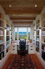 cutchogue waterfront residence inspiration for a timeless home office remodel in new york with a built in desk built office desk