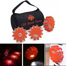 3Pcs LED <b>Road Flares Flashing Warning</b> Light With A Bag ...