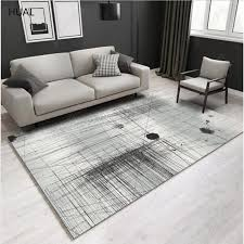 HUAL Carpet <b>New Fashion Simple</b> Nordic <b>Geometric</b> Carpet Ready ...