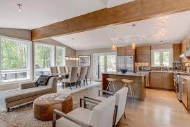 floor plans:  modern wood open floor plan
