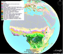 fig modis hdf tiles a practical guide to geostatistical global data sets shown in google earth