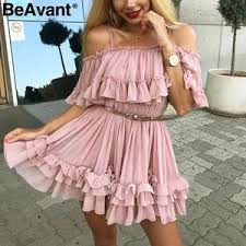 Buy chiffon dress pink online, with free global delivery on AliExpress ...