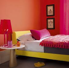 red bedroom vibrant color