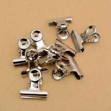 <b>10pcs</b> Round Metal Grip Clips Silver Bulldog Clip <b>Stainless</b> Steel ...
