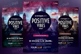 positive vibes psd flyer template net are