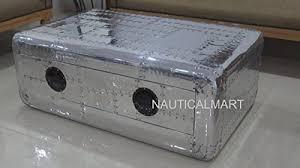 NauticalMart Vintage <b>Aviator Coffee Table</b> Aluminium Trunk ...