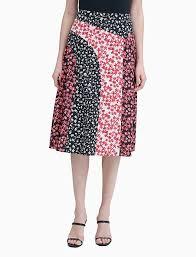 <b>Printed Patchwork A-Line</b> Skirt | Calvin Klein