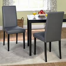 faux leather dining chair black: full size of tables amp chairs faux leather parsons dining chair solid rubber wood legs