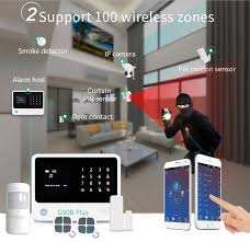 homsecur wireless wired gsm home security burglar alarm system support en ru voice ios android app