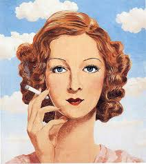 Georgette Magritte - Rene Magritte. Artist: Rene Magritte. Completion Date: 1934. Place of Creation: Brussels, Belgium. Style: Surrealism - georgette-magritte-1934(1)