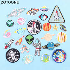 <b>ZOTOONE</b> Alien <b>Planet</b> Astronaut Parches Embroidery Iron On ...