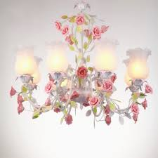 <b>American Country Pastoral</b> Chandelier Flower Led Lamp Wrought ...