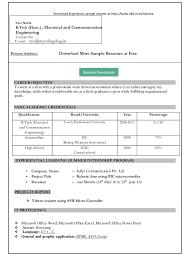 curriculum vitae samples resume format in word file