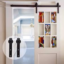 <b>LWZH</b> 4ft <b>5ft 6ft 7ft</b> 8ft <b>9ft</b> Antique Style Wood Sliding <b>Barn Door</b> ...