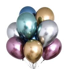 <b>10pcs 12inch Metallic</b> Balloons <b>Metal Latex</b> Balloon Birthday Party ...
