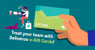 Deliveroo E-Gift Cards delivery from The City - Order with Deliveroo