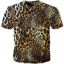 <b>Cloudstyle Leopard Print T</b> Shirt Men Women Funny Animal Fur ...