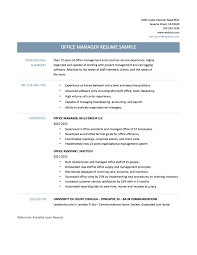 office manager resume sample template and tips office manager resume