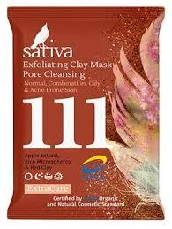 Sativa <b>Маска</b>-<b>гоммаж для очищения</b> пор №111 — купить по ...