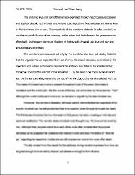 short essay annabel lee grade % annabel lee short essay short essay annabel lee grade 100% annabel lee short essay the enduring