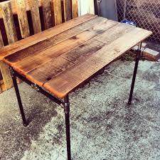 custom made custom sized industrial pipe desk black iron pipe table