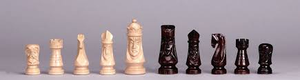 <b>chess pieces</b> k3″ <b>japanese style</b> rosewood leather base – weighted