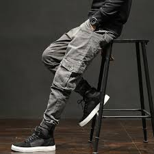 <b>Icpans</b> Cargo Pants Military Style With Cuffs Pockets Streetwear ...