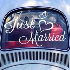Gay Wedding Ideas Mr & Mr Raamsticker Wedding Car Window ...