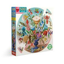 <b>Crazy</b> Bug Bouquet 500 Piece Round <b>Puzzle</b> – eeBoo