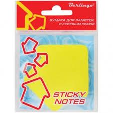 <b>Самоклеящийся блок BERLINGO</b> 70*70*50л Стрелки неон желтый