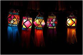 hanging beautiful lighting kandil diwali decoration photo beautiful lighting