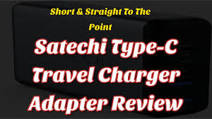 Satechi <b>75W Dual</b> Type-C <b>PD</b> Travel Charger <b>Adapter</b> with 2 USB-C ...